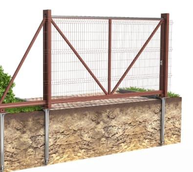 <strong>Забор на винтовых сваях</strong>