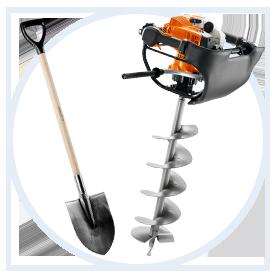 Штыковая лопата или бензобур