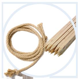Веревка, нить и колья
